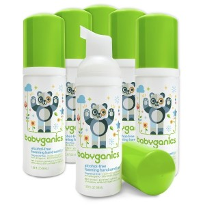 Babyganics Alcohol-Free Foaming Hand Sanitizer, Fragrance Free, On-The-Go, 50 ml (1.69-Ounce), Pump...