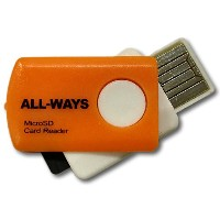 ALL-WAYS microSDHC用 USB接続 カードリーダー PMRO-AW