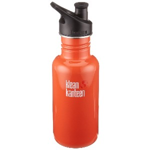KLEAN KANTEEN CLASSIC 532ML WATER BOTTLE WITH SPORT CAP (FLAME ORANGE) (Parallel Imported Product)