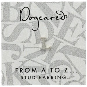 [ドギャード] DOGEARED from a to z earring, SS, little L V3SSZ00211104