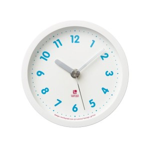 Lemnos candy clock ホワイト LC05-15 WH
