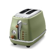 DELONGHI Icona Vintage 2 Slice Toaster CTOV2003.GR Green Toast 220V + English User's Manual& Free...