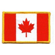 Canada's Canadian Flag PATCH, Superior Quality Iron-On / Saw-On Embroidered Patch - Each one is...