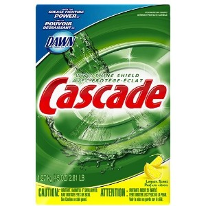 Cascade Powder Dishwasher Detergent Lemon Scent 1.3 lt (Pack of 12) (並行輸入品)