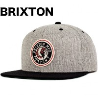 Brixton Rival Snapback Hat Cap Light Heather Grey/Black キャップ 並行輸入品