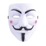 Bristol Novelty White Character Face. Guy Fawkes. Vendetta. Mask - Men's - One Size