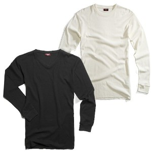 CITY LAB シティラブ FITTED THERMAL SHIRT CREWNECK ロンT XL WHITE