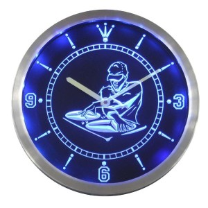 LEDネオンクロック 壁掛け時計 nc0372-b DJ Disc Jockey Disco Music Bar Beer Neon Sign LED Wall Clock