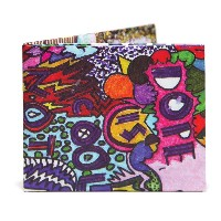 The Graffiti 二つ折り 紙財布 スリム Bifold Paper Wallet Slim The Walart Mighty Tyvek Dynomighty