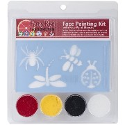 Ruby Red Face Painting Stencil Kit-Bugs (並行輸入品)