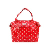Cath Kidston キャスキッドソン ショルダーバッグ 2015年春夏 481557 Lrge Zipped Shoulder Bag Button Spot Cranberry [並行輸入品]