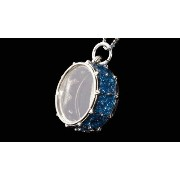 [cpa][c:0][b:8][s:0.16]スネア ドラム ネックレス Snare Drum Necklace 578 (青)