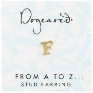 [ドギャード] DOGEARED from a to z earring, GD, little F V3GGZ00210504