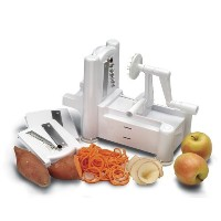 World Cuisine ベジタブルスライサー Tri-Blade Plastic Spiral Vegetable Slicer 直輸入品