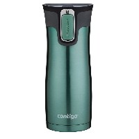 Contigo Autoseal West Loop Stainless Steel Travel Mug with Easy Clean Lid マグ 450ml グリーン