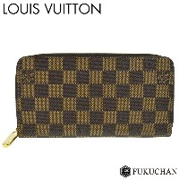 【LOUIS VUITTON/ルイ・ヴィトン】ダミエ・エベヌ ジッピー・ウォレット N41661 新型 【中古】≪送料無料≫