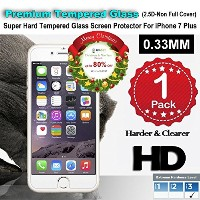 iPhone 7 Plus Premium Tempered Glass Screen Protector (1 Pack) 3D Touch Super Hard 0.33mm By Jimkev...