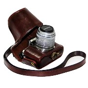 No1accessory XJPT-EPL5-10 ダークブラウン Olympus pen E-PL5 EPL5 E-PL6 EPL6 E-PM2 EPM2 (with 14-42mm lens)...