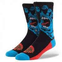 【STANCE/スタンス ソックス】SANTA CRUZ SCREAMING HAND BLACK L-XL,-