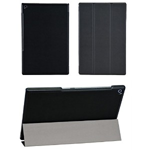 SP-MART(オリジナル)SONY Xperia Tablet Z2 ケース オートスリープ機能 PU Leather Case esd3006_55 (Black)