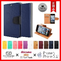 【2点セット】 Apple iPhone5 iPhone5s MERCURY GOOSPERY FOCUS SONATA FLIP DIARY CASE 【 商品動画 URL あり 】 / 【...