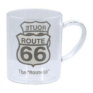 USA 耐熱 ガラスマグ ルート66 ROUTE66