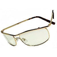 [ZIG's] INTELLIGENCE with GOLD METAL×多機能・超高性能[IRUV1000]=EYE-GUARD LENS 鯖江メーカー開発・企画 (glzt14go+gM,cZ...