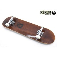 REKON SKATEBOARD COMPLETE SET BROWN /リーコン スケートボード コンプリートスケートボード セット【7.75x31】高品質カナディアンメイプルウッド使用&ABEC...