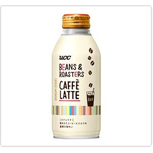 UCC BEANS&ROASTERS CAFFE LATTE (ビーンズロースターズ カフェラテ) 375gリキャップ缶×24本入