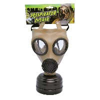 Gas Mask Realistic. (Costume Accessories) Unisex One Size - Green