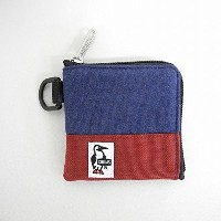 chums(チャムス) Square Coin Case Sweat Nylon スクエア コインケース スウェット ナイロン H-NV/Red Henna