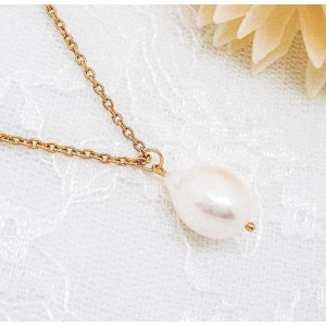 Sheryl & Co. バロック 淡水パール 14KGF 一粒 ロングネックレス