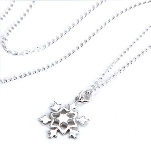Gem Art ( ジェムアート ) silver925 デザイン ネックレス Snowy crystal (雪の結晶) タイプH