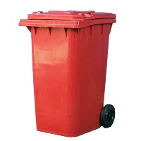 【DULTON】ダルトン Plastic trash can 240L (RED)