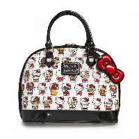 Hello Kitty Multi Kitty Embossed Dome Bag
