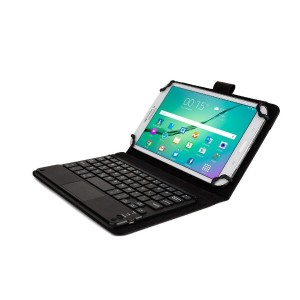 Cooper Cases (TM) Touchpad Executive Lenovo Tab S8-50, Tab 2 A7-10 Bluetoothキーボードフォリオ(ブラック)...