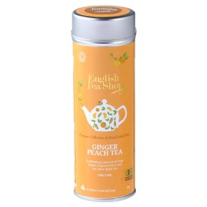 Ginger Peach Tea ラウンド缶 15p