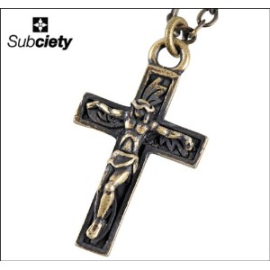 [サブサエティ]Subciety METAL NECKLACE-JESUS ネックレス FREE A.GOLD