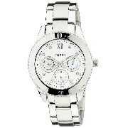 Fossil Women's ES3098 Stainless Steel Analog White Dial Watch [Watch] Fossil