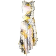 Diane Von Furstenberg abstract print asymmetric dress