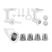 KitchenAid KGSSA Stand Mixer Attachment Pack 2 with Food Grinder, Rotor Slicer & Shredder, and...