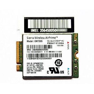 ThinkPad 純正 LTE 4G 3G M.2 NGFF WWANカード EM7355 (04W3801) X1 Carbon Gen 2 (Machine types: 20A7, 20A8)...
