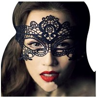 Joygo Lace Eye Mask Masks Sexy Lady for Masquerade Party Costume Fancy Dress Charming Black Pack of...