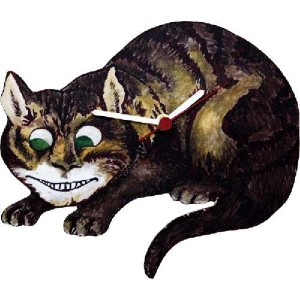 Lark Rise Designs Wooden Clock(クロック)・時計 ALICE IN WONDERLAND・ふしぎの国のアリス CHESHIRE CAT・チェシャ猫 LRC2