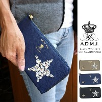 ADMJ エーディーエムジェイ/L-ZIP WALLET with SWAROVSKI ELEMENTS【smtb-kd】【RCP】fs04gm