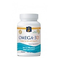 海外直送品Nordic Naturals Omega-3D, Lemon, 60 Softgels 1000 mg