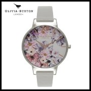 【人気】OLIVIA BURTON ENCHANTED GARDEN WATCH GREY SILVER Olivia Burton(オリビアバートン) バイマ BUYMA