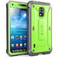 Samsung Galaxy S5 Active Case SUPCASE Unicorn Beetle PRO 衝撃吸収 全面保護 防塵 ハイブリッド ハードケース (Green/Gray)