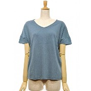 A HOPE HEMP(アホープヘンプ) BAMBOO V NECK DOLMAN TEE Color:RAIN FOREST Size:F
