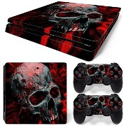 Sony PS4 Playstation 4 Slim Skin Design Foils Faceplate Set - Vampire Skull Design
